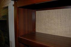 Burlap Backed Bookcase