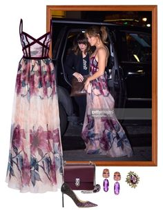 """Jennifer Lopez – Out In New York"" by foreverforbiddenromancefashion ❤ liked on Polyvore featuring Fendi, Elie Saab, Jimmy Choo and Margot McKinney"