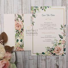 Προσκλητήριο Γάμου gold flowers Gold Flowers, Save The Date, Wedding, Valentines Day Weddings, Weddings, Wedding Invitation, Marriage, Chartreuse Wedding