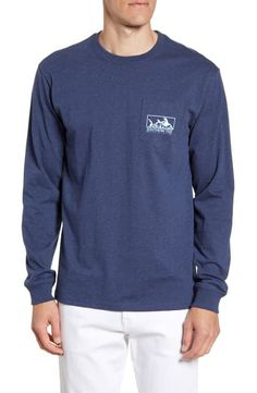 Men's Southern Tide Skipjack Scene Classic Fit Graphic Long Sleeve T-Shirt, Size XX-Large - Blue Southern Tide, Cut Shirts, Scene, Pure Products, Navy, Classic, Long Sleeve, Fitness, Casual