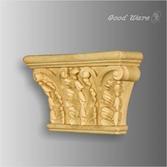 Polyurethane faux wood corbels are decorative accents that add a classic aesthetic to interiors decor. Made of high density polyurethane.