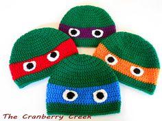 Teenage Mutant Ninja Turtles Crocheted by TheCranberryCreek, $15.00