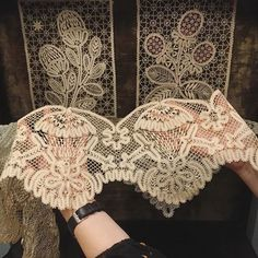 1930s propaganda Vologda lace at our antique lace pop up exhibition in London @ulyana_sergeenko_moscow #showroom #lace #vologdalace #ulyanadreams