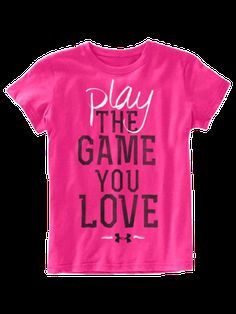 Kid's Under Armour Play The Game Tee #Hibbett4Pink