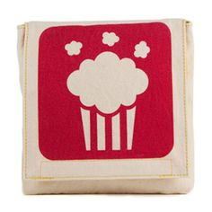 Organic Cotton Single Snack Pack Popcorn ~ a fun eco friendly gift! Reusable snack pack made from high quality organic cotton with a yellow, water resistant, food safe polyester lining and easy velcro closure. Pack Lunch Bags, Snack Bags, Reusable Sandwich Bags, Reusable Bags, Popcorn Snacks, Back To School Essentials, Gift Finder, Bag Making, Organic Cotton