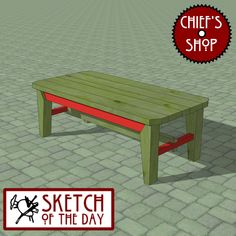 Sketch of the Day: Observation Bench