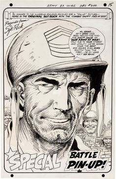 Our Army at War #200 Sgt. Rock pin up by Joe Kubert