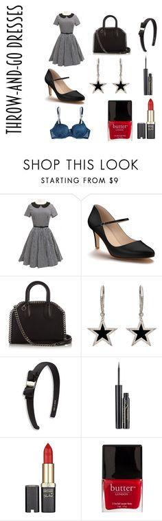 """dress"" by sveta93 on Polyvore featuring moda, WithChic, Shoes of Prey, STELLA McCARTNEY, Jennifer Meyer Jewelry, Salvatore Ferragamo, Elizabeth Arden, L'Oréal Paris e Butter London"