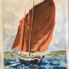 Morbihan #sailboat #sailing #painting #paintings #watercolor