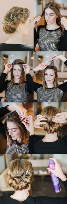 Updo Hairstyles for Long Hair | Step By Step Hair Updo by Makeup Tutorials at http://makeuptutorials.com/14-stunning-easy-diy-hairstyles-long-hair-hairstyle-tutorials/