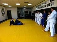 In the middle of the Fundamentals Class.    Carlson Gracie Indianapolis Jiu Jitsu  916 E. Main St.  Suite 111  Greenwood, IN. 46143  317-979-4466  http://www.carlsongracieindy.com