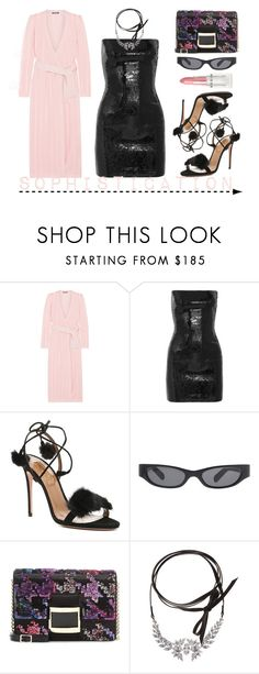 """""""Sophistication"""" by adswil ❤ liked on Polyvore featuring Balmain, Yves Saint Laurent, Aquazzura, Acne Studios, Roger Vivier, Fallon and Rodin"""