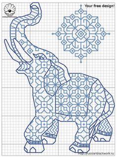 Elephant, Cross Stitch
