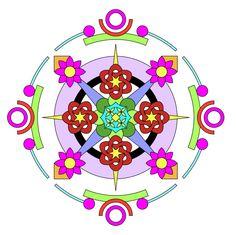 Make and color some beautiful mandalas.   GrandmaIdeas.com