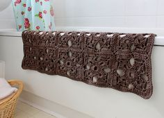 Get inspired to add more color and style to your bathroom with this fabulous crochet bath mat.