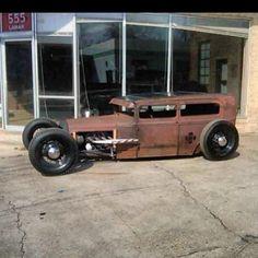 Rusty Model A Sedan by Morbid Rodz