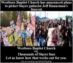 "Westboro Baptist Church Plan To Sing ""Crazy Train"" Parody While Picketing SLAYER Guitarist Jeff Hanneman's Funeral - Metal Injection"