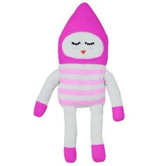 Bon Bon pink large knitted doll by LuckyBoySunday * www.the-pippa-and-ike-show.com