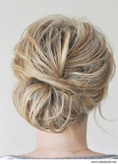 Love! Wear this brid updo with a veil, that woul be so pretty.