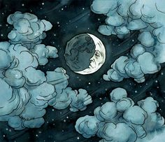 """of the Moon Series """"You may act like the strongest impenetrabl… # Werwolf # amreading # books # wattpad Art And Illustration, Illustrations, Fantasy Kunst, Fantasy Art, Painting Inspiration, Art Inspo, Cloudy Nights, Kunst Inspo, Arte Dc Comics"""