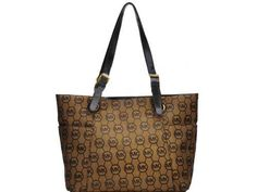 Special Price For Christmas : $68.95 - Michael Kors Grayson Jet Set Monogrammed Tote Brown