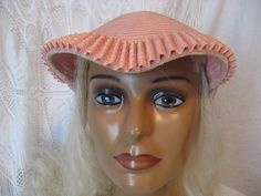 Hey, I found this really awesome Etsy listing at https://www.etsy.com/listing/209759780/cute-cute-little-pink-vintage-hat