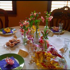 Mother's Day Brunch table using a garden party theme