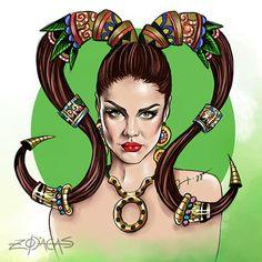 Zodiaca de Touro - Inspiração Paloma Bernardi  #palomabernardi  #illustration #ilustracao #atriz