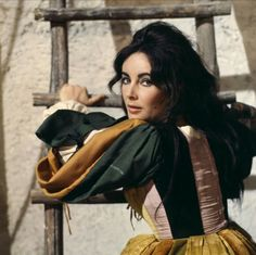 Elizabeth Taylor on the set of The Taming Of The Shrew, 1967.