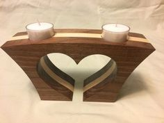 heart shaped tea light candle holder #WoodworkingProjectsCandleHolder