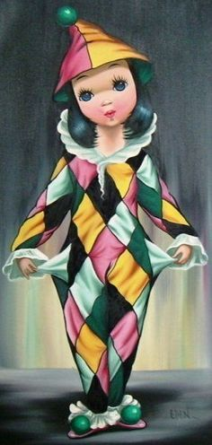 Poor Harlequin by Eden Clown Face Paint, Pierrot Clown, Send In The Clowns, Clown Faces, Circus Clown, Eye Painting, Human Art, Vintage Circus, Painting Lessons