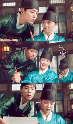 XD Such a funny scene! - Moonlight Drawn By Clouds Korean Celebrities, Korean Actors, Love In The Moonlight Kdrama, Kim Yoo Jung Park Bo Gum, Liar And His Lover, Park Go Bum, Moonlight Drawn By Clouds, Lee Young, Drama Fever
