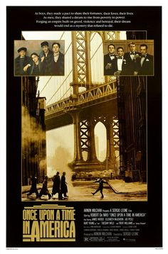 Once Upon a Time in America - such a great movie - and we saw the restored version at Cinema Ritrovato in Bologna, Italy in July 2012.