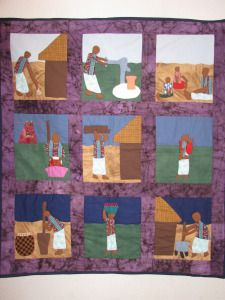 Malawi, Nine panel hand-crafted African Quilt