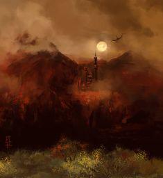 The Red mountain by LeKsoTiger.deviantart.com on @deviantART
