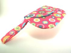 Bright Pink Clutch Purse with Colorful Flowers by TrampLeeDesigns, $20.00
