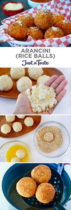 Turn leftover rice into the easiest, cheesiest Arancini with Marinara Sauce! These Italian rice balls are filled with gooey mozzarella and fried until. Leftover Rice Recipes, Leftovers Recipes, Sauce Recipes, Cooking Recipes, Italian Food Recipes, Italian Rice Dishes, Sicilian Recipes, Cheese Recipes, Yummy Recipes