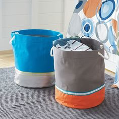 Collapsible Canvas Storage Bins for Kids Rooms | Company Kids