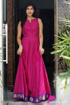 Best 12 Bandhini – House of Ayana – SkillOfKing.Com Dress Neck Designs, Fancy Blouse Designs, Saree Blouse Designs, Kurta Designs, Kurti Designs Party Wear, Indian Gowns Dresses, Indian Fashion Dresses, Fashion Outfits, Frock Design