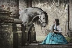 Makes me think of a princess & her horse for some reason...