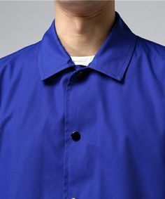 GANRYU Men's(ガンリュウ メンズ)の2017SS ロングコーチジャケット(ステンカラーコート)|詳細画像