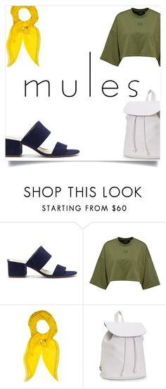 """""""Mules:block colours"""" by zoeysunday ❤ liked on Polyvore featuring Vince Camuto, Hermès and Aéropostale"""