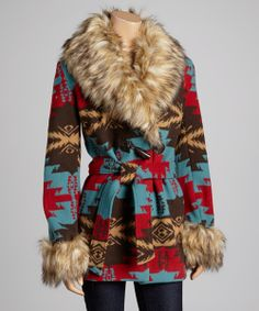 Blue & Red Plains Coat   Daily deals for moms, babies and kids
