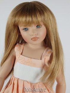"DOLL WIG BEAUTIFUL DK BROWN BRAIDS 8//9/"" FITS VINTAGE /& MODERN DOLLS"