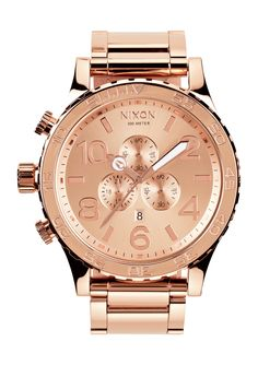 Featuring The 51-30 Chrono in All Rose Gold, Fresh From Nixon