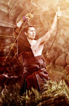 Japanese martial art Kyudo series by Justin Bartels,