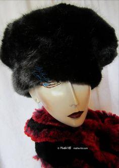 chapeau hiver modulable en bonnet béret faux-fur sublime