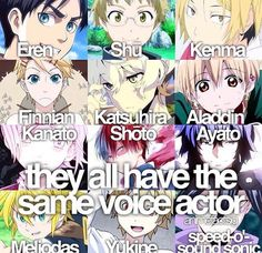 THIS IS NOT OKAY. WHAT. EREN HAS THE SAME VOICE ACTOR AS FUCKING AYATO. kill me