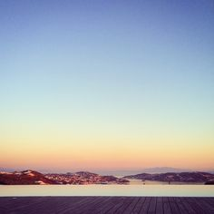 Sunset view of Mykonos town.