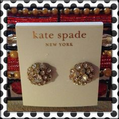 """♠Kate Spade NY """"Putting On the Ritz"""" Earrings♠️ Kate Spade """"Putting On the Ritz"""" Small Gold-Tone Dome Stud Earrings measures approximately 1/2"""" in diameter.  Retail : $48, Originally Listed : $40 kate spade Jewelry Earrings"""